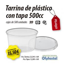 Tarrina plástico redonda 500 cc
